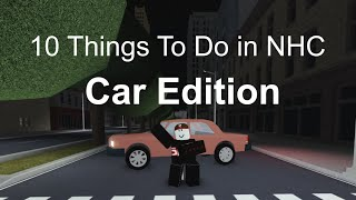 Roblox - 10 Things To Do in New Haven County, CAR EDITION