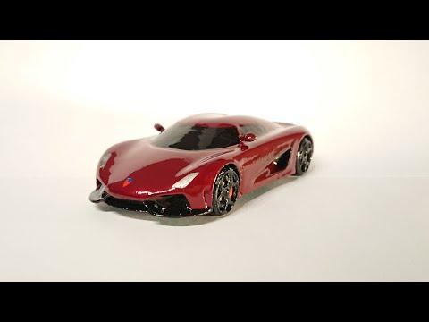 3d printed model car - Koenigsegg Regera - YouTube