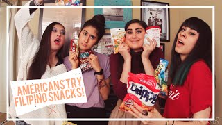 AMERICANS TRY FILIPINO SNACKS!