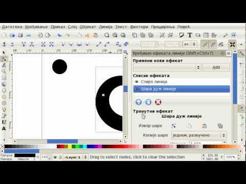 Inkscape: Spiro line + Pattern along path