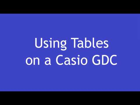 Casio GDC: Using Tables to Help Plot Graphs (Part 1)