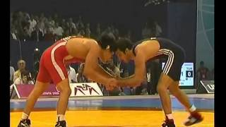 Спорт. Вольная борьба. ЧМ-2007. Базар Базаргуруев-Тефик Адабаши (Турция).