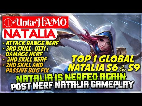 Natalia Is Nerfed Again, Post Nerf Natalia [ Top 1 Global Natalia S6 S9 ] Ⓘ•Unta•HAMO Natalia