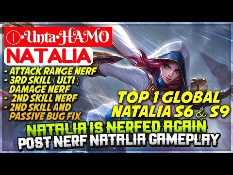 Natalia Is Nerfed Again, Post Nerf Natalia [ Top 1 Global Natalia S6 S9 ] Ⓘ•Unta•HAMO Natalia