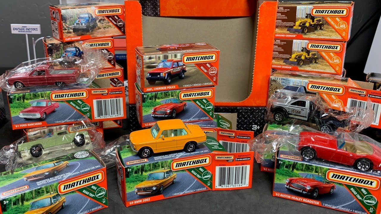 power grabs Toy Cars. matchbox ×7 2020