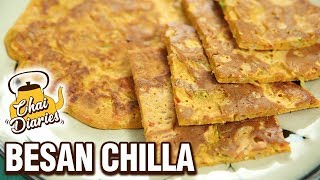 Besan Chilla Recipe - How To Make Tomato Omlette  At Home - Chai Diaries with Varun