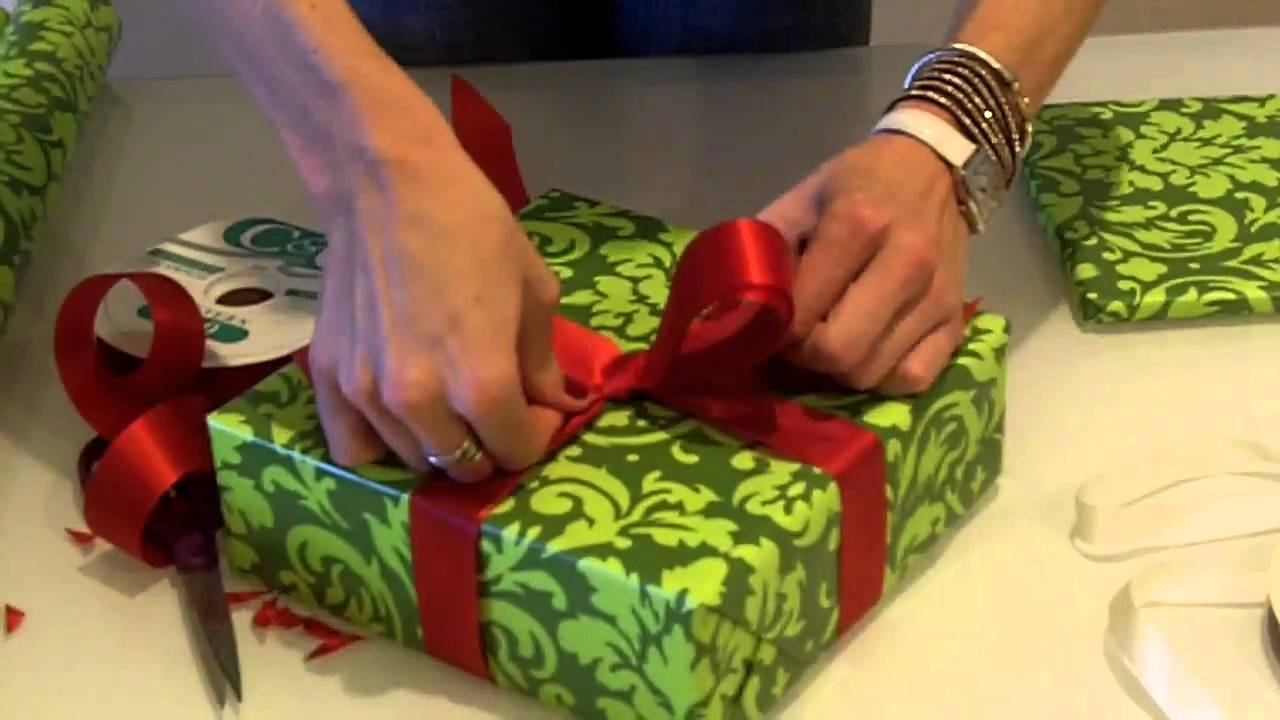 How To Wrap The Perfect Christmas Present The Bow Youtube