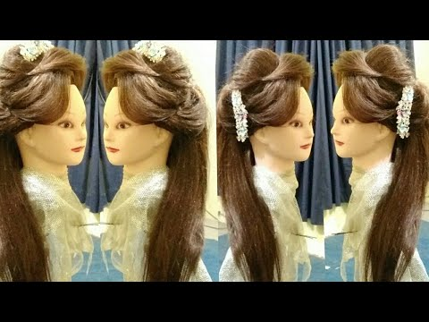 Puff Hairstyle For Party Front Puff Hairstyle For Girls Puff Hairstyle Step By Step Round Face Youtube
