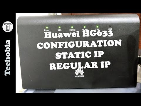 Huawei HG633 configuration for Airtel Broadband or VDSL