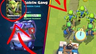 קלאש רויאל - קלף חדש במשחק!!! Goblin Gang (משחקים עם הקלף)