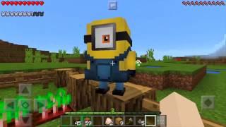 GANHEI OS MELHORES ITENS DOS MINIONS !! POCKET AVENTURA #7 (Minecraft Pocket Edition)