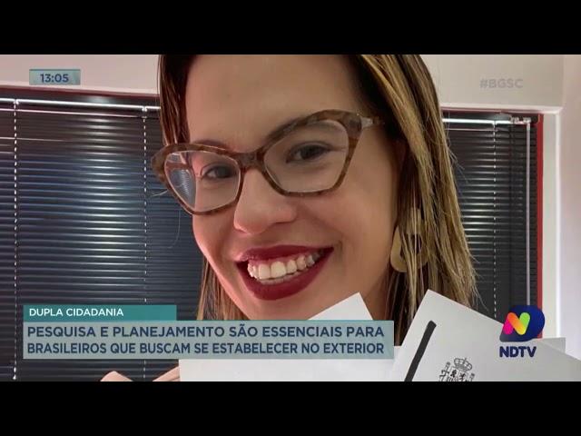 Balanço Geral Florianópolis entrevista Renata Barbalho sobre Cidadania Espanhola.