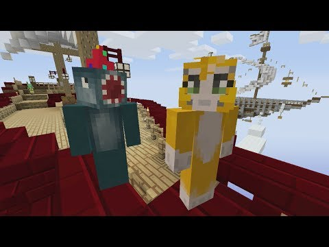 Minecraft Xbox - Air Ship Battle Royal - Squid & Stampy Vs Choo Choo & Chache