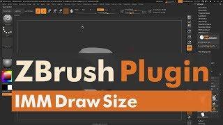 IMM Draw Size - Pixologic's ZBrush Plugin thumbnail
