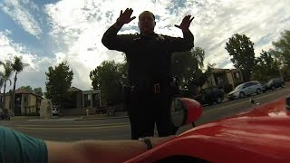 Pulled over by San Diego Police Department while riding my velomobile