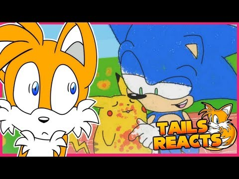 tails-reacts-to-sonic-meets-pikachu