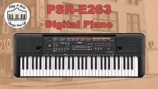 The Best Beginner Keyboard? Yamaha PSR-E263 61-Key Portable Keyboard Demo