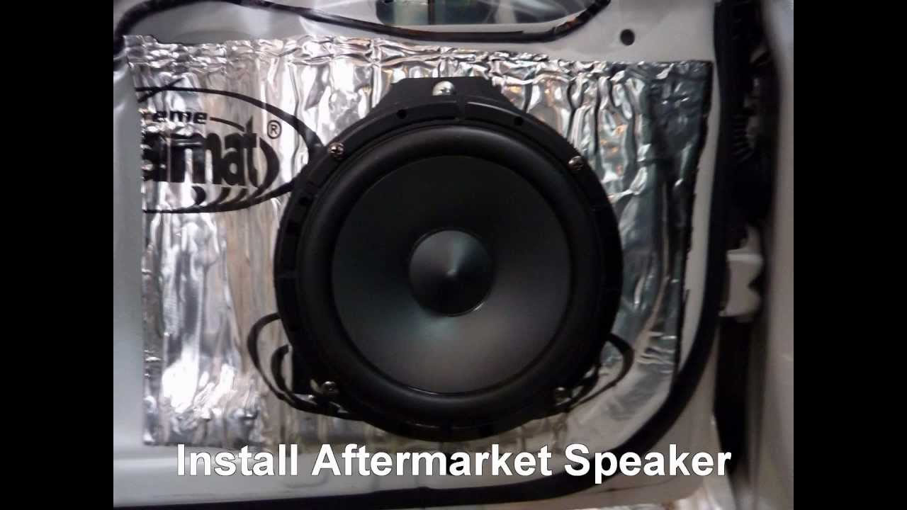 how to replace front door speakers in a 2010 subaru impreza youtube. Black Bedroom Furniture Sets. Home Design Ideas