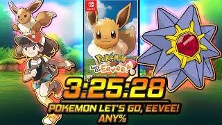 (3:25:28) Pokémon Let's Go, Eevee! Any% Speedrun | Retrotato