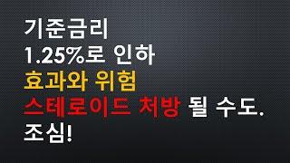 한국은행 기준금리 인하 1.5%에서 1.25%로. 스테…