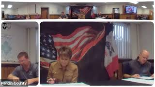 Hardin County Board of Supervisors Meeting 10142020