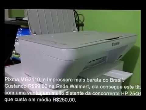 429219b9b Análise da impressora Canon Pixma MG2410 - YouTube