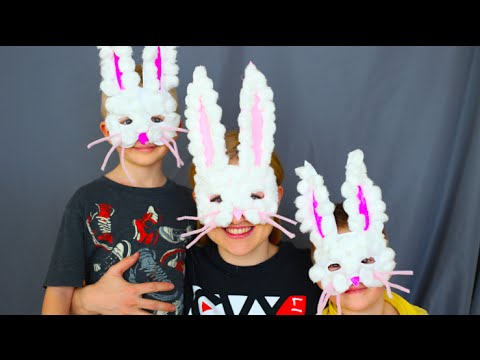 & How To Make Easter Bunny Masks! Kids Craft! - YouTube