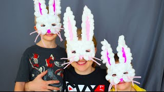 How To Make Easter Bunny Masks! Kids Craft!