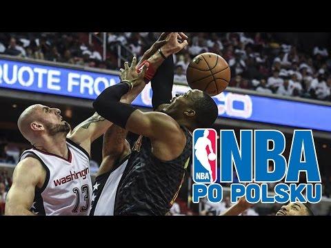 Marcin Gortat 3 bloki w 48 sekund! | Wizards vs Hawks GAME 2 | NBA po POLSKU