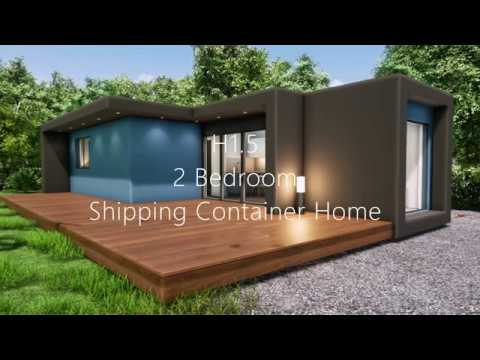 Affordable 2 Bedroom shipping container home design Walk through