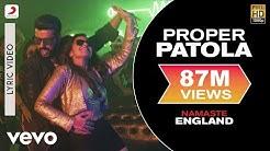Proper Patola Lyric Video - Namaste England Arjun Kapoor, Parineeti Badshah,Diljit,Aastha