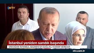 Cumhurbaşkanı Erdoğan oyunu kullandı... (İstanbul yeniden sandık başında)