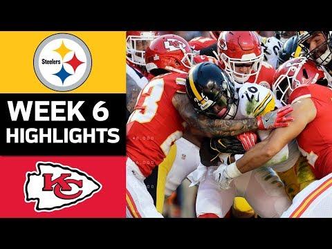 Steelers vs. Chiefs   NFL Week 6 Game Highlights