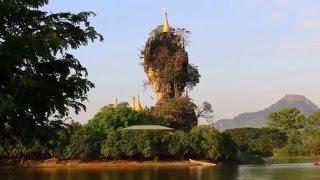 เที่ยวพะอัน กะเหรี่ยง ชมเจดีย์ เก๊าะกะแล๊ท(Kyaut ka  Latt Pagoda) Hpa-an,Myanmar