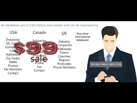 Denmark business email database list for B2B advertising