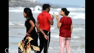 Beautiful Couple Bath Sensation in Digha Sea beach/ সমূদ্র স্নান