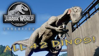 Jurassic World Evolution: I took the time to unlock every dino incl...