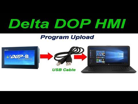 How to upload Delta HMI program