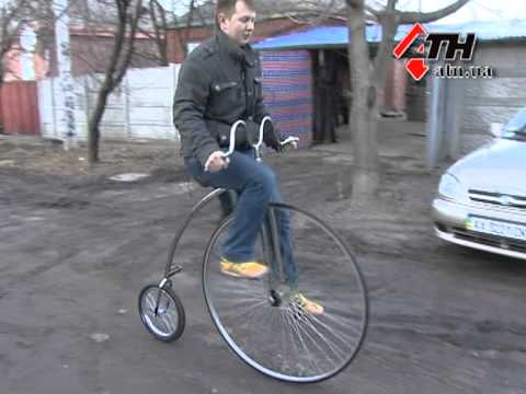 How to mount a Penny Farthing - YouTube