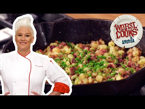 How to Make Breakfast Potatoes with Anne Burrell | Worst Cooks in America | Food Network