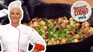 How to Make Breakfast Potatoes with Anne Burrell | Worst Cooks in America: Celebrity Edition
