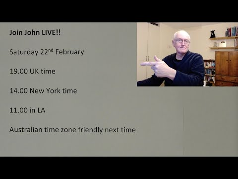 Live Chat With John, Saturday, 22 Feb, 2020, 19.00 UK Time