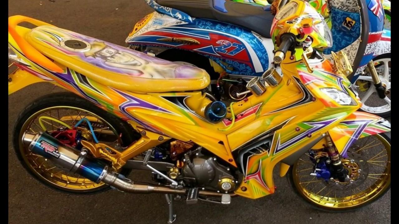 Cah Gagah Video Modifikasi Motor Yamaha Jupiter MX Airbrush Velg