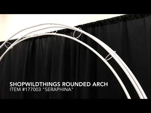 ShopWildThings Round White Metal Wedding Arch