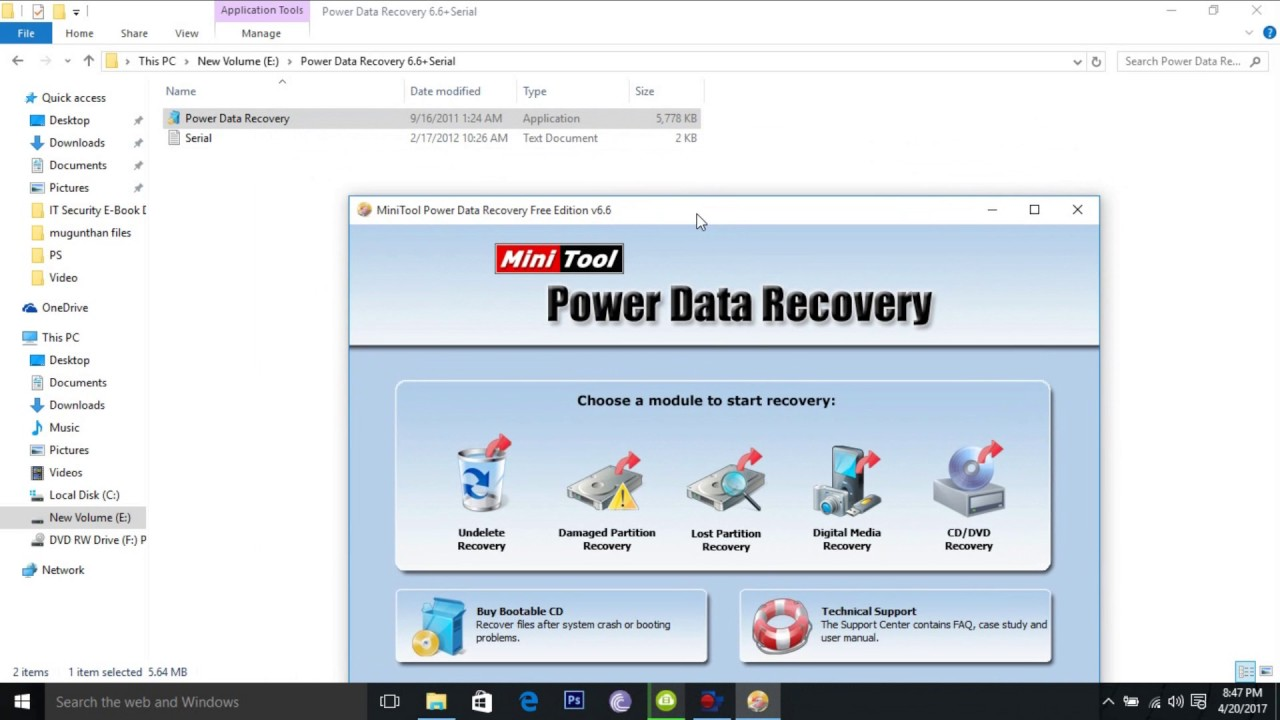 power data recovery serial key 4.6.5