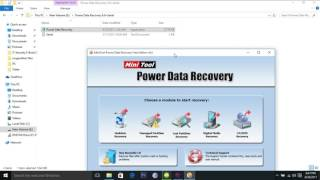 how to install and register power data recovery software