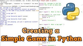 How to Make A Simple Game in Python (For Beginners)