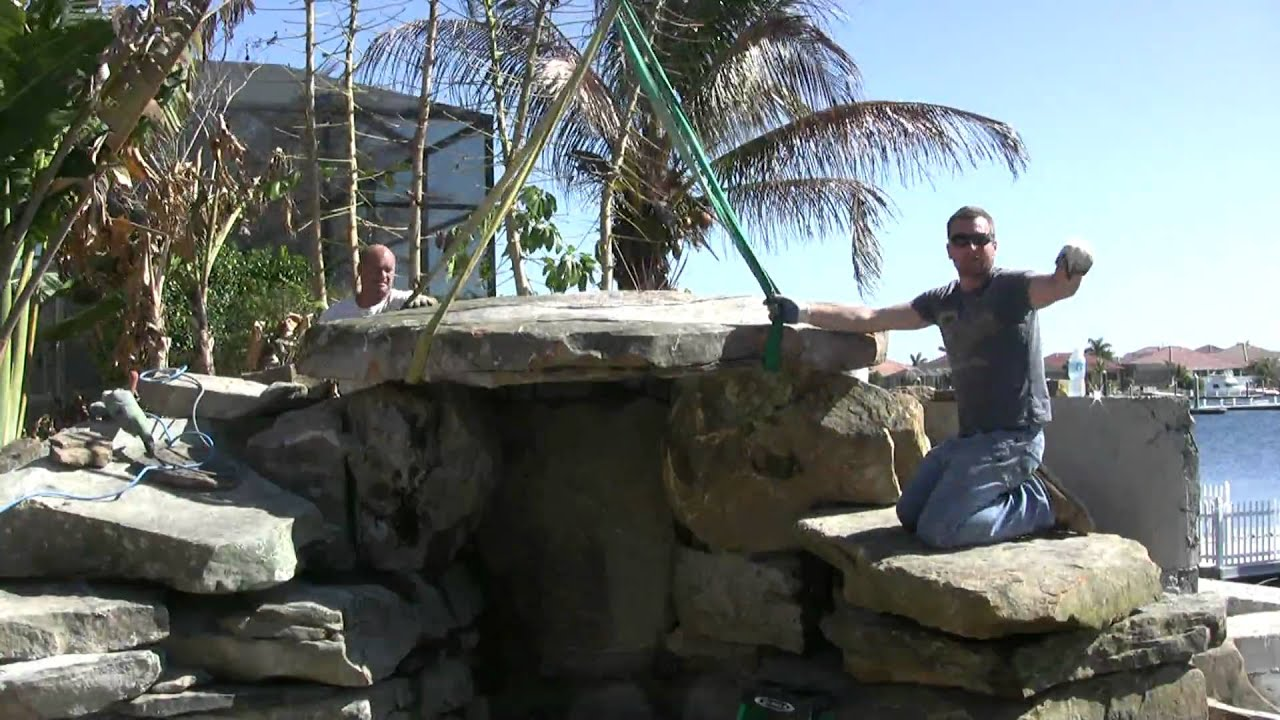 Building a Grotto Waterfall Pool by Lucas Lagoons Inc. - YouTube
