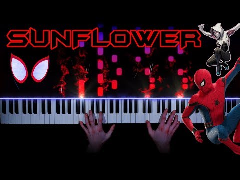Post Malone, Swae Lee - Sunflower (Spider-Man: Into The Spider-Verse) - Piano Cover | Tutorial