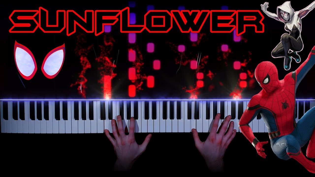 Post Malone, Swae Lee - Sunflower (Spider-Man: Into the Spider-Verse) - piano cover | tutorial image